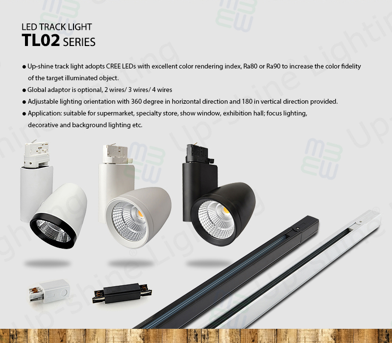 Led Track Lighting Components: TUV Approval 240V Light Angle 30degree One Phase Three