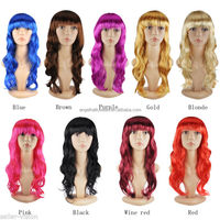 Hot sale different colors full lace halloween wig with high quality FW2019