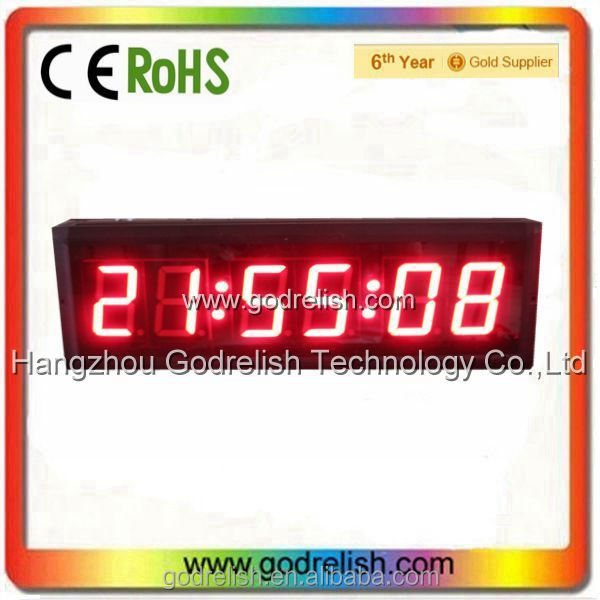 New design Godrelish 12v led clock with low price
