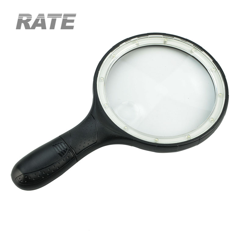 Handheld 10LED Light Large Lens Magnifying Glass