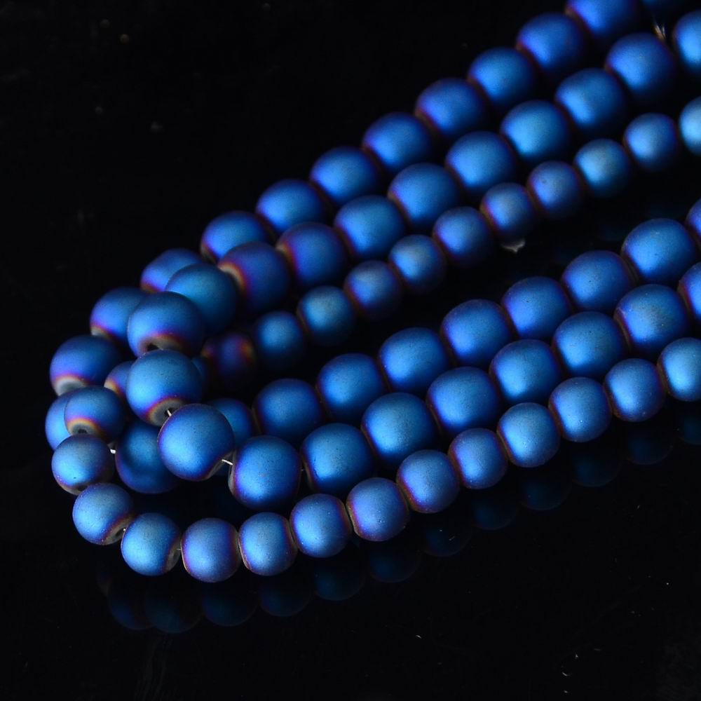 200PCS/pack Wholesale Loose Beads 8MM 10MM Blue Glass Beads Fit Jewelry Handmade Beaded Bracelet DIY Accessories Carfts Findings