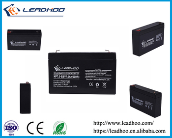 6v 7ah 20hr rechargeable lead acid sla vrla agm battery