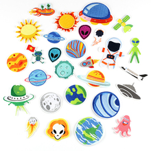 14pcs/Set Embroidery Patches Space Astronaut Pattern Sew On Patches Iron On Patches For Clothes Badges Sticker For Jeans