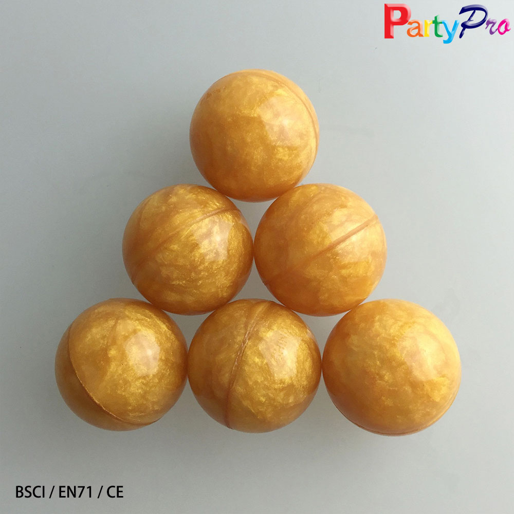 New Toys China Factory 60mm EN71 Golden Rubber Super High Bouncing Ball for Adult bouncy balls