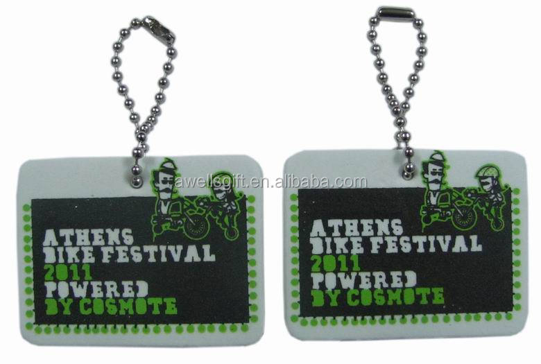 Promotional Logo Printed Custom Cheap EVA Keyring
