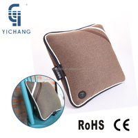 PU leather amd soft fabric material smart massage pillow vibrating car seat cushions for travle