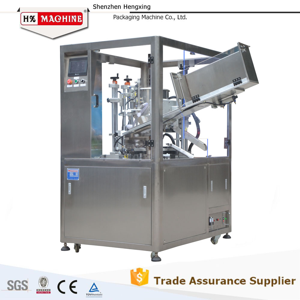 Cosmetic plastic tube filling sealing equipment for soft tube with CE