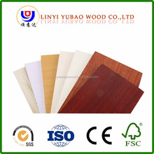 18mm melamine paper laminated veneer wood plywood block board