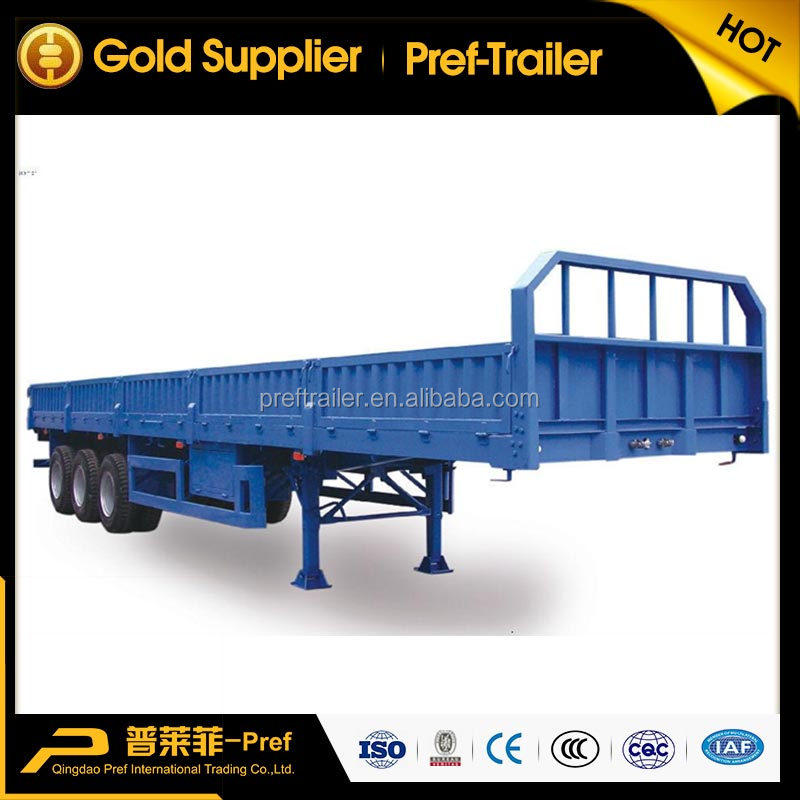 three axles 11m tandem axle side wall open semi-trailer in good price