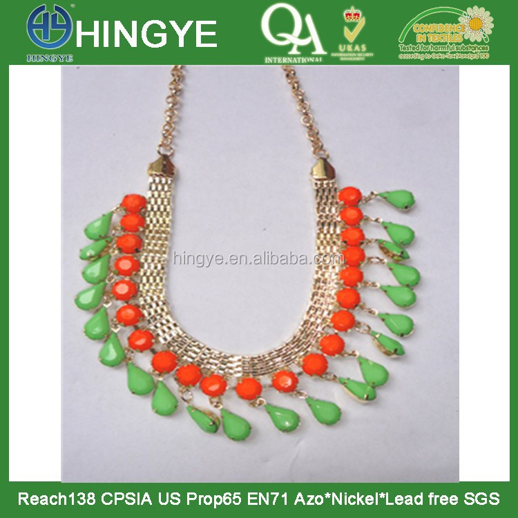 New Design Fashion Colorful Beaded Necklace Used As Collar - N1412009