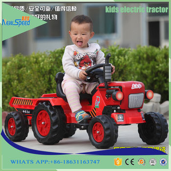 Christmas New Kids Gift Electric Power Car Toy Children Riding ride on Tractor toy