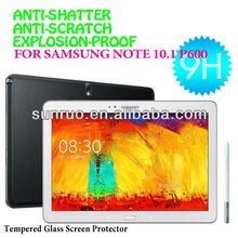 Professional factory supply colorful border explosion-proof 9H tempered glass screen protector for samsung galaxy note 10.1 p600