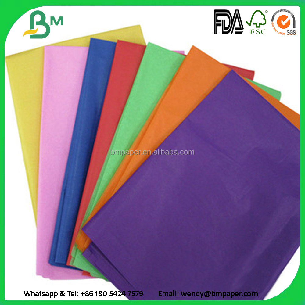Colorful Wrapping tissue paper for gift/clothes/metal packing acid free