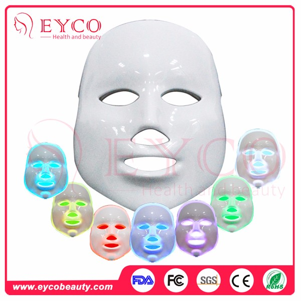EYCOred light therapy facial beauty light therapy led red light therapy system 7 colors Led face mask
