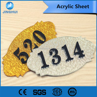 PMMA material 4*6 feet marble Good hard coating pop acrylic sheet for outdoor sign board