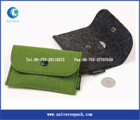 customized small bag pouches felt folding magnetic pouch