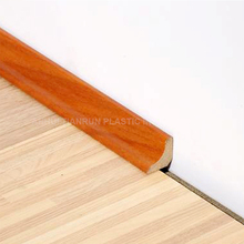 Wrapped MDF Mouldings flooring accessories Waterproof Wooden Baseboard and Skirting
