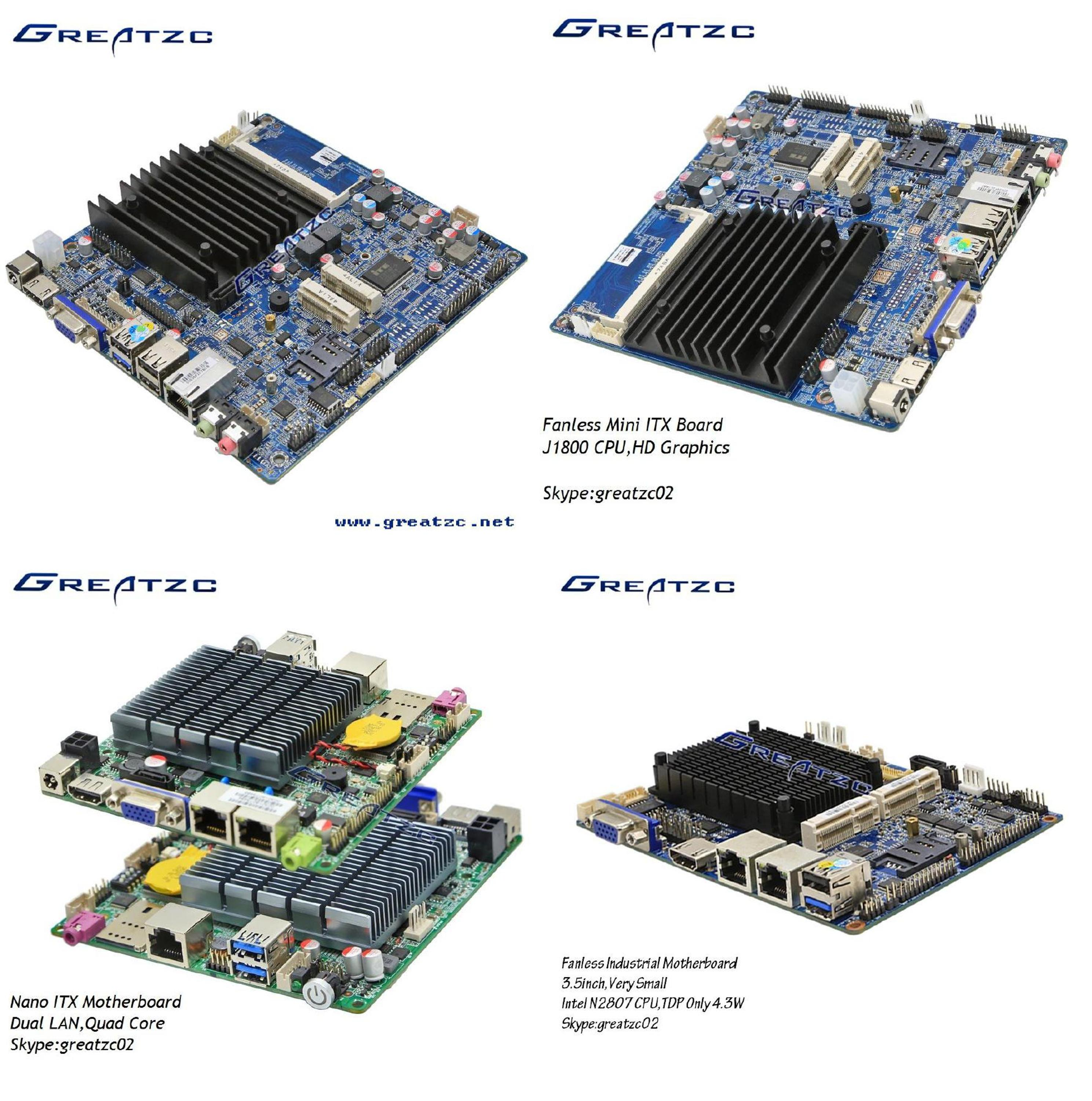 Pos Mini itx Motherboard Support 4K With 3855U CPU 2 RS232 1 LPT For POS Machine