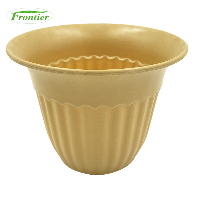 Personalised Reusable Bamboo Fiber Unique Garden Large Organic Flower Pots