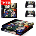 Picasso Abstract Paint Sticker Skin Wrap Cover For Sony PS4