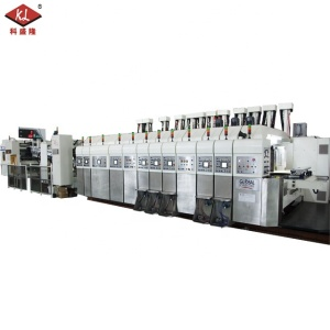 Automatic 4 Color Sweet Box Flexo Printing Slotting Die Cutting Machine for Carton