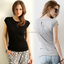 Fashion Soft Cotton Woman Plain Tshirts