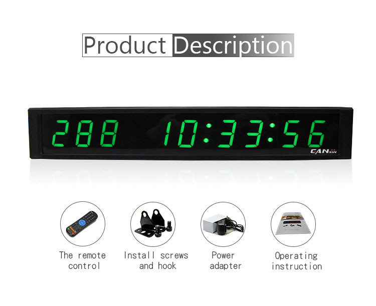 "[GANXIN]1"" 9 Digits Green Portable Wholesale Led Digital Days Counter Home/Office Use"
