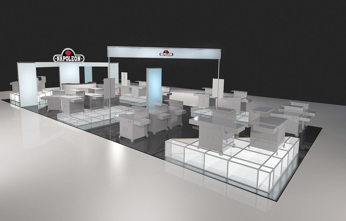 Custom design china design exhibition booths construction