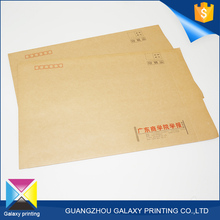 Hot-selling promotional custom printing wholesale brown kraft paper envelope