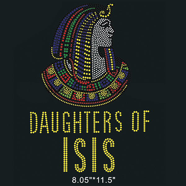 Daughters of ISIS custom hot fix rhinestone transfer for T-Shirt