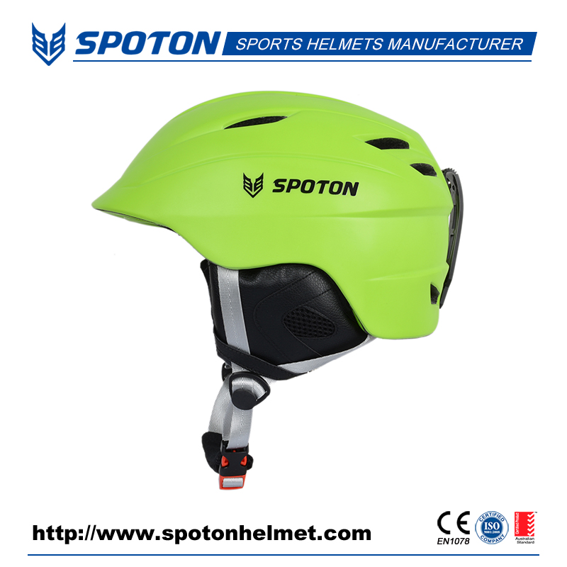 in mold PC snow helmet ski helmet with visor