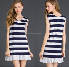 Clothing Brands In India Sleeveless V-neck Latest Dress Designs For Ladies Middle Aged Women Wholesale Suppliers