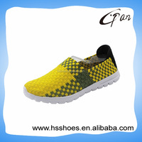Woven elastic upper flat dress shoes