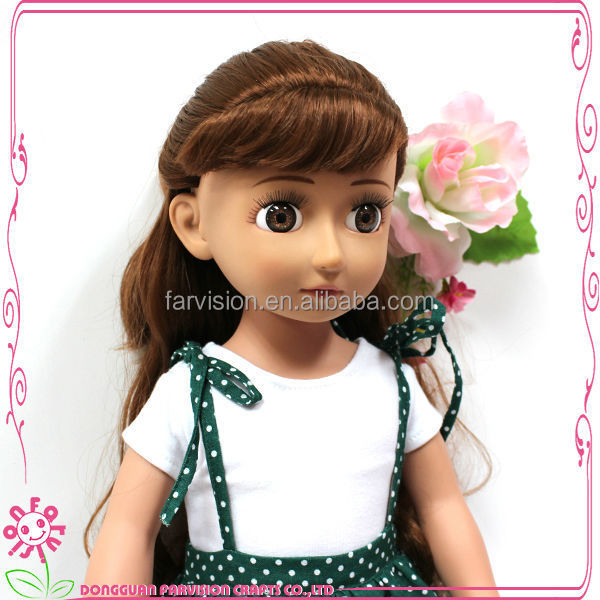 Kawaii baby face 18 inch doll clay mold dongguan oem dress dolls