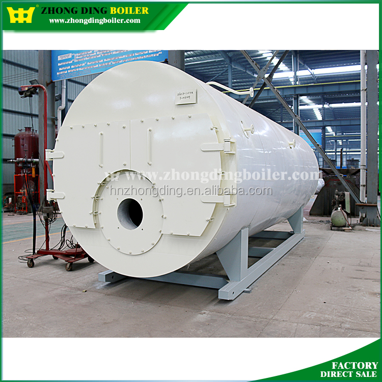 10ton industrial WNS natural diesel gas oil fired steam boiler turbine ramson price