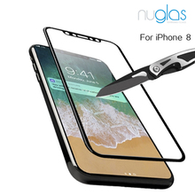 Nuglas anti-broken 9h premium mobile phone use tempered glass screen protector for iPhone X 3D full glue