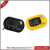 LCD Electronic Digital Pet Aquarium Fish Tank Seafoof Machine Waterproof Thermometer TM-3