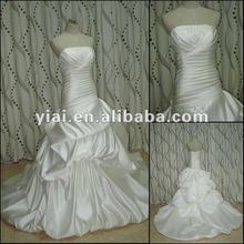 JJ2769 Drop Shipping Silk Satin Beaded Wedding Dress 2012