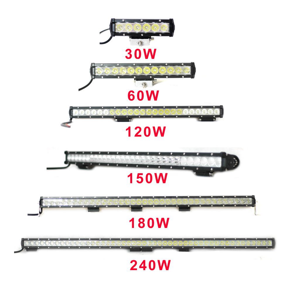 NBYC LED 30W 60W 120W 6000K Hot Sale Off Road SUV Driving Light Car Truck LED Light Bar
