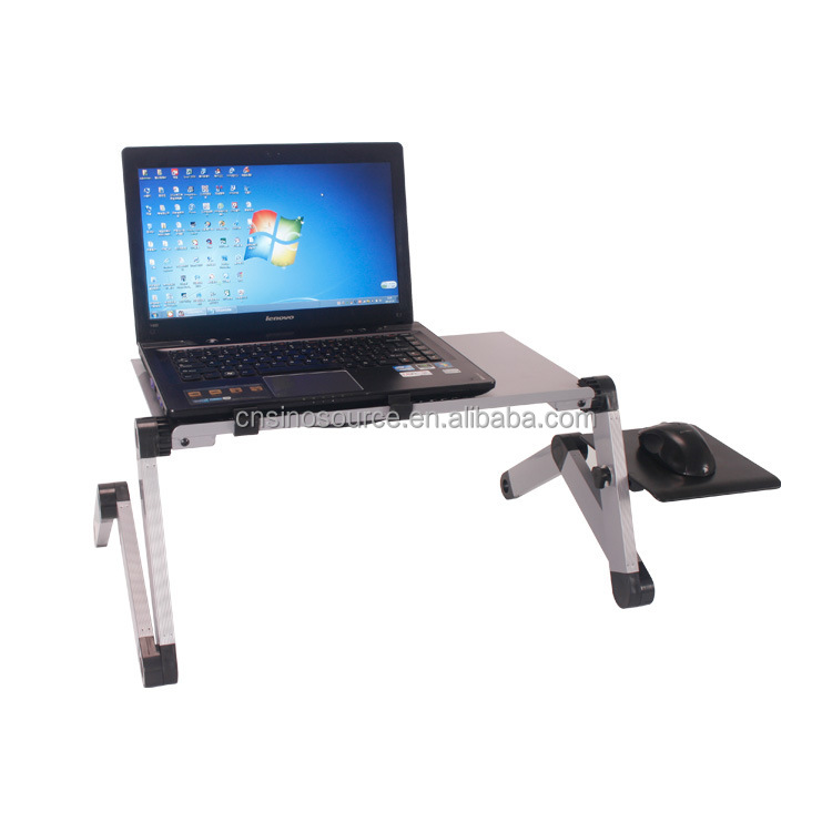Hot sale foldable Aluminum Nottable Laptop Stand,computer desk