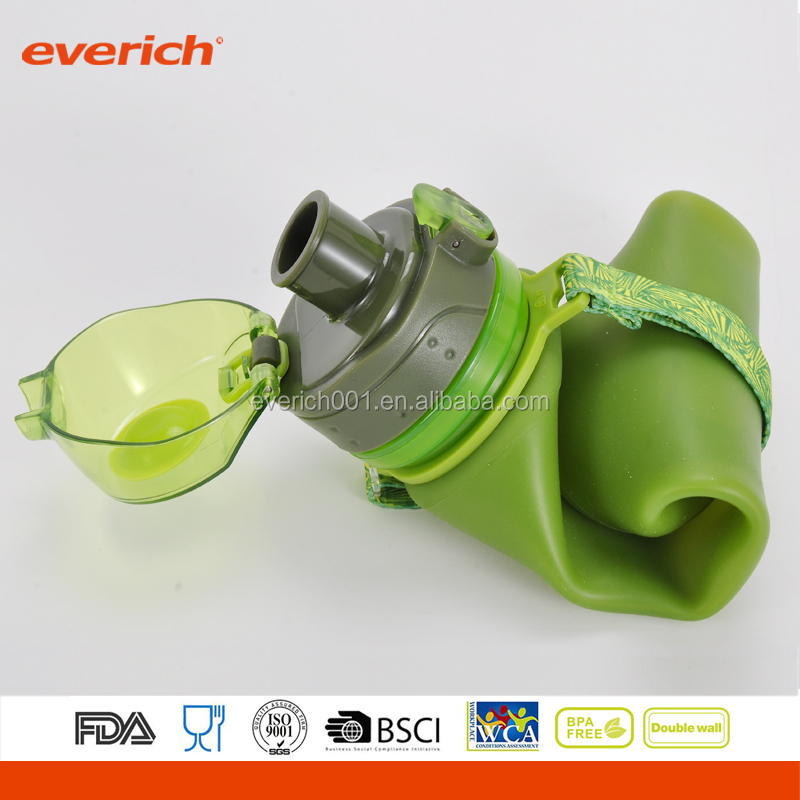 Everich New Design Foldable Silicone Water Bottle For Outdoor