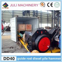 Hot selling China New condition DD40 guide rod type diesel pile hammer for 400*400 square pile in Philippines & Indonesia