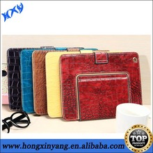 Book shaped vintage style crocodile leather case for ipad 2 3 4