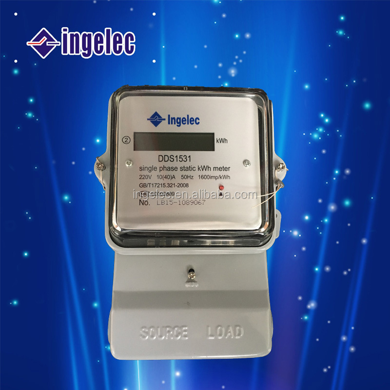 High Quality New Design Single Phase KWh Meter Electric Energy Meter Wireless Single Phase Smart Digital Electric Meter