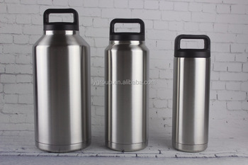 High Quality 18oz 36oz 64oz Wide Mouth Double Wall Insulated Stainless Steel Water Bottle