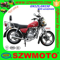 HOT SALE in africa economy GN49 GN125 GN150 SL125-5 HJ125-8 street motorcycle with windshield