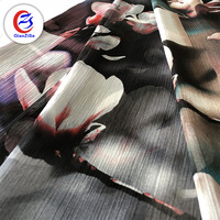 Wholesale high quality customized 30D Polyester digital chiffon printed fabric