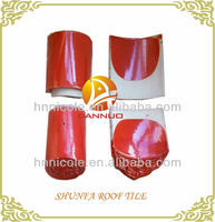 anti-freeze glazed old oriental red roof tiles