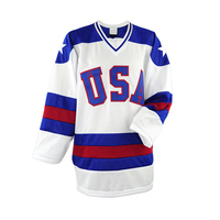 Made in China Practice Hockey Jerseys Sublimation Team USA Hockey Jerseys