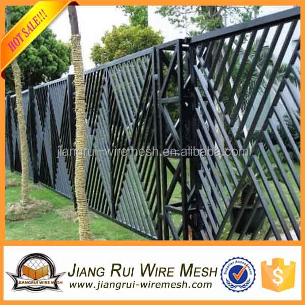 2016 new latest cheap High quality galvanized steel fence price for sale